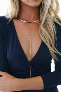 Modern Minimalist Gold Layered Collar Necklace at Lulus.com!