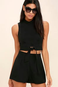 Anywhere Black Two-Piece Set at Lulus.com!