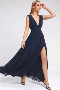 Heavenly Hues Navy Blue Maxi Dress at Lulus.com!