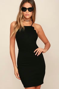 Heart's Content Black Bodycon Dress at Lulus.com!