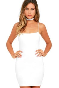 FLAUNT IT IVORY BODYCON DRESS at Lulus.com!