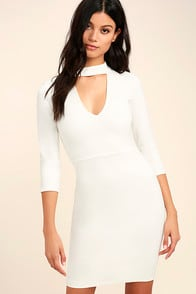 Seven Wonders Ivory Bodycon Dress at Lulus.com!