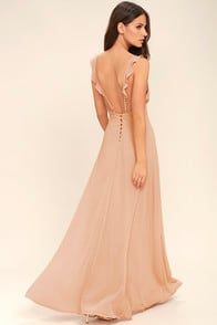 Meteoric Rise Blush Maxi Dress at Lulus.com!
