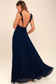 Meteoric Rise Navy Blue Maxi Dress at Lulus.com!