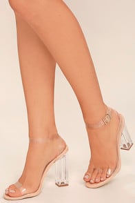 Clear to See Transparent Lucite Heels at Lulus.com!