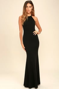 GIRL IN THE MIRROR BLACK BEADED MAXI DRESS at Lulus.com!