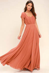 Falling For You Rusty Rose Maxi Dress at Lulus.com!