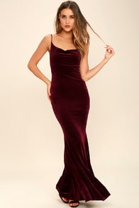 Sorceress Burgundy Velvet Maxi Dress at Lulus.com!