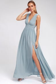 HEAVENLY HUES LIGHT BLUE MAXI DRESS at Lulus.com!