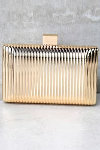 Take a Shine To Gold Clutch at Lulus.com!