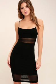 Something Between Us Black Bodycon Midi Dress at Lulus.com!