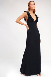 Perfect Opportunity Navy Blue Maxi Dress at Lulus.com!