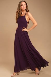 Strappy to be Here Purple Maxi Dress at Lulus.com!