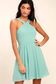Forevermore Turquoise Skater Dress at Lulus.com!