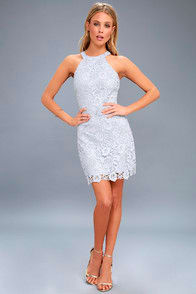 Love Poem Light Blue Lace Dress at Lulus.com!