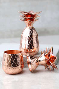 The Pineapple Co. Copper Pineapple Shot Glass Set at Lulus.com!