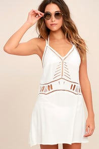 Exotic Locale White Crocheted Cover-Up at Lulus.com!