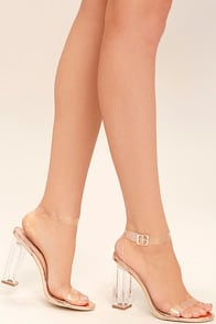 Clear to See Rose Gold Lucite Heels at Lulus.com!