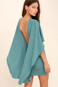 Best is Yet to Come Turquoise Blue Backless Dress at Lulus.com!