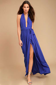 Magical Movement Royal Blue Wrap Maxi Dress at Lulus.com!