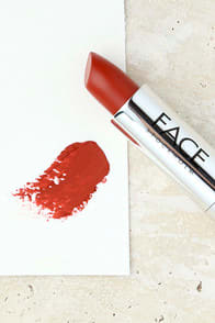FACE STOCKHOLM BRICK RED MATTE LIPSTICK at Lulus.com!