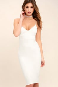 Catalina Classic White Bodycon Midi Dress at Lulus.com!