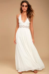 THIS IS LOVE WHITE LACE MAXI DRESS at Lulus.com!