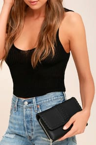AUSTIN CHIC BLACK CLUTCH at Lulus.com!
