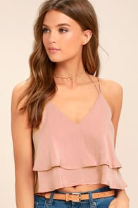BETTER AND BETTER BLUSH PINK CROP TOP at Lulus.com!