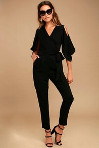 Adelyn Rae Hold Tight Black Jumpsuit at Lulus.com!