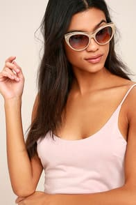 Maria Beige and Tortoise Sunglasses at Lulus.com!