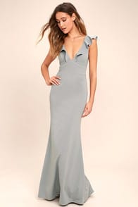 Perfect Opportunity Grey Maxi Dres at Lulus.com!