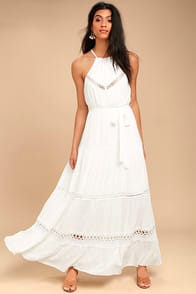 Some Kind of Wonderful White Lace Maxi Dress at Lulus.com!