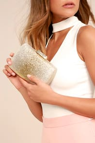 Jackpot Gold Clutch at Lulus.com!