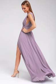 Heavenly Hues Dusty Purple Maxi Dress at Lulus.com!