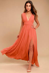 Heavenly Hues Rusty Rose Maxi Dress at Lulus.com!