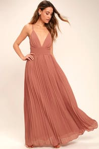 DEPTHS OF MY LOVE RUSTY ROSE MAXI DRESS at Lulus.com!