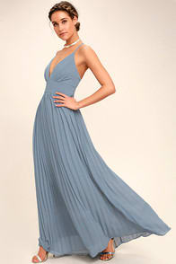 Depths of My Love Dusty Blue Maxi Dress at Lulus.com!