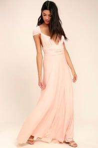 Tricks of the Trade Blush Pink Maxi Dress at Lulus.com!