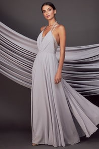 Moment Grey Lace Maxi Dress at Lulus.com!
