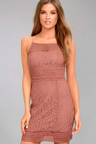 Black Swan Tyra Rusty Rose Lace Dress at Lulus.com!