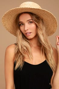 Wyeth Suzy Beige Straw Sun Hat at Lulus.com!