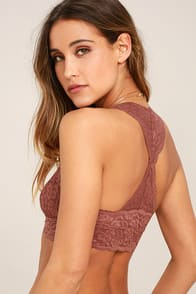 Free People Galloon Racerback Light Brown Lace Bralette at Lulus.com!