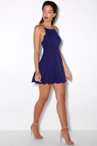 Play on Curves Royal Blue Backless Dress at Lulus.com!