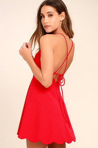 Play On Curves Red Backless Dress at Lulus.com!