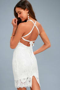 Wishful Wanderings White Lace Bodycon Midi Dress at Lulus.com!