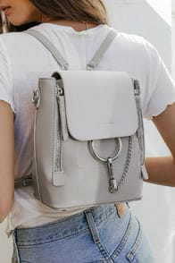 Sidewalk Stunner Grey Backpack at Lulus.com!