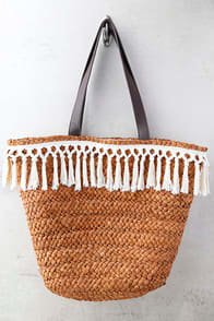 San Diego Hat Co. Phillipa Terra Cotta Woven Tote at Lulus.com!