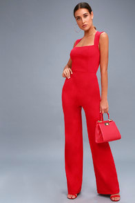 enticing-endeavors-red-jumpsuit at Lulus.com!