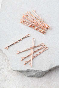 Ban.Do Everyday Bobbis Rose Gold Bobby Pins at Lulus.com!